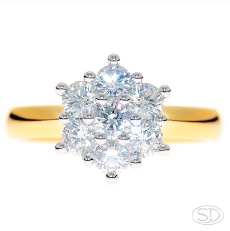 snow-drop-inspired-diamond-cluster-designer-engagement-ring-custom-made-in-brisbane.JPG