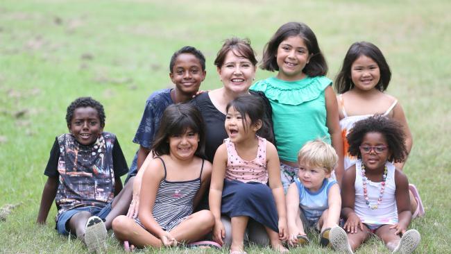 President Lisa with IAFQ kids