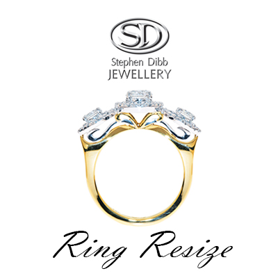 profile of an intricate engagement ring