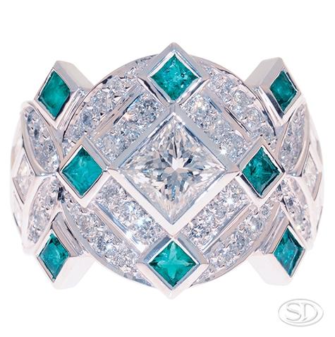 DSC5752-emerald-diamond-dress-ring-designer-custom-design-handmade-handcrafted-Brisbane.jpg