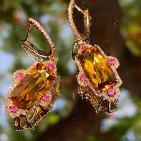 citrine-pink-sapphire-diamond-designer-earring-Brisbane-Australia-Gold-Coast-1.jpg