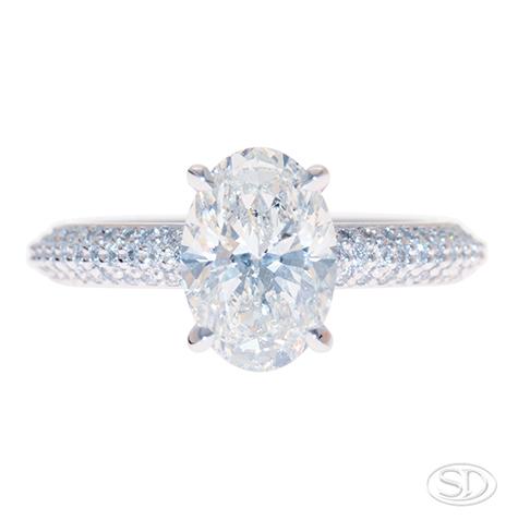 designer solitaire diamond engagement ring diamond band