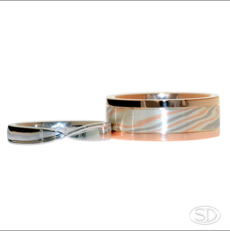 designer ladies & gents wedding rings handmade locally