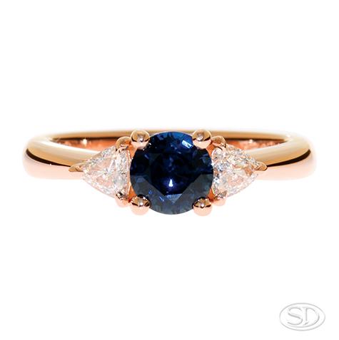 designer sapphire engagement ring