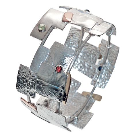 reticulated metal handcrafted bracelet